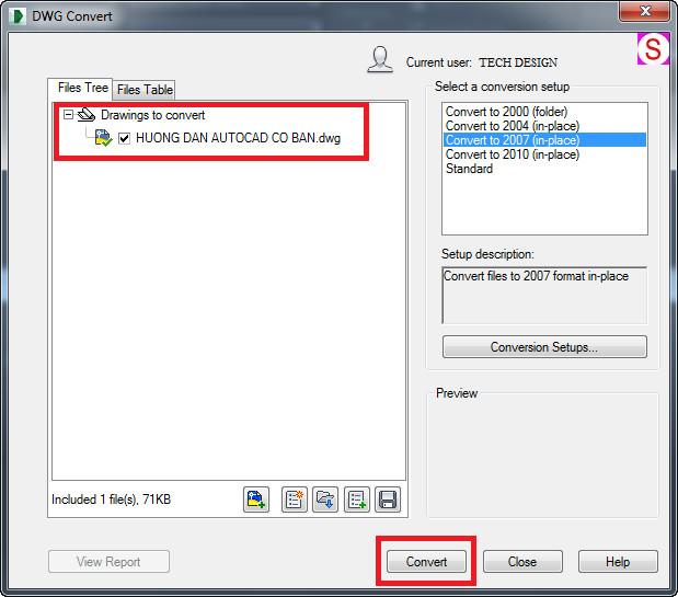convert file cad ve autocad 2007