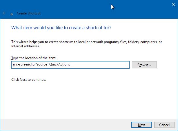 tạo màn hình phác thảo snip desktop shortcut trong Windows 10 pic2