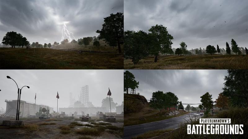 PUBG: Erangel sẽ nổi mưa, có chớp giật và sấm sét ở bản update sắp tới