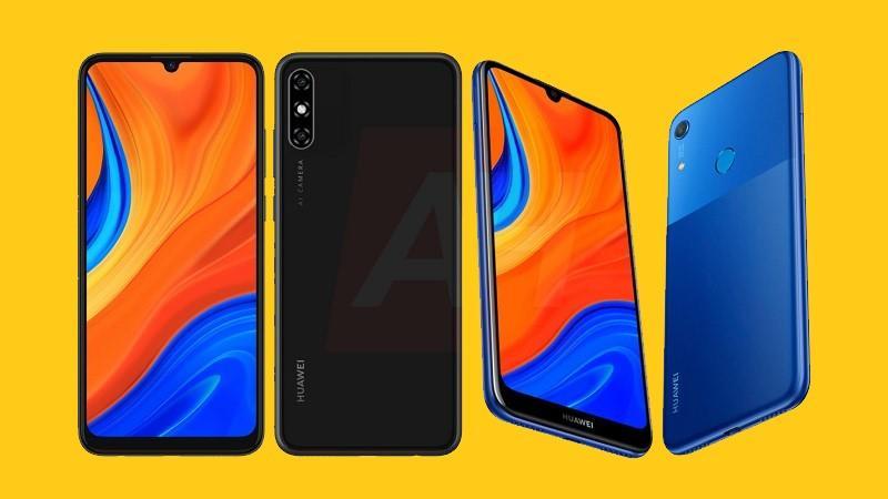 Huawei Y6s và Y6s Pro lộ ảnh render, cả hai đều có màn hình kiểu giọt nước