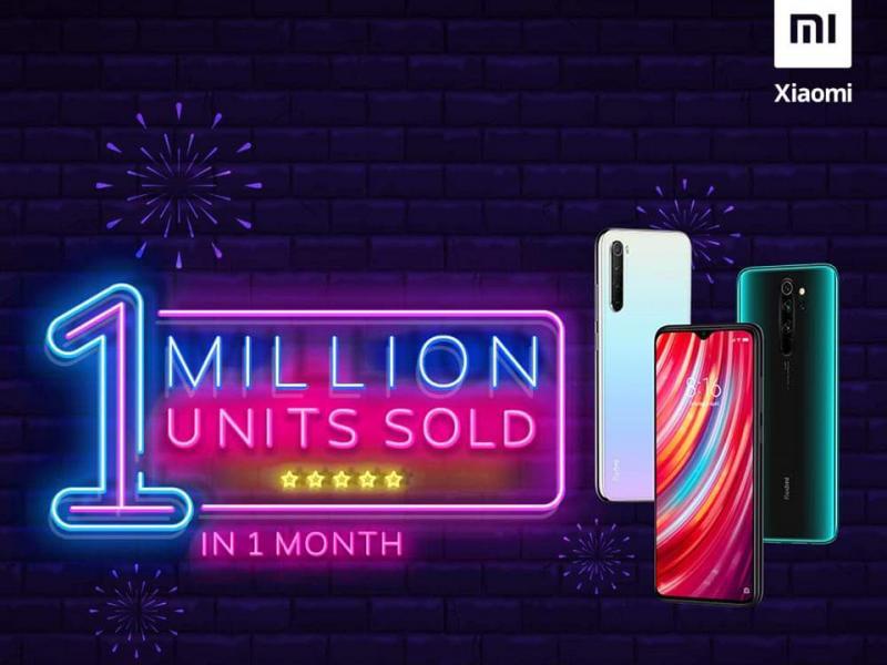 Redmi Note 8 series đã bán được 1 triệu chiếc trong vòng một tháng