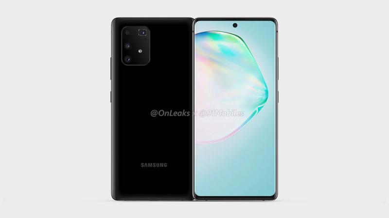 Thiết kế Galaxy A91 lộ diện rõ nét trong ảnh render và video 360 độ