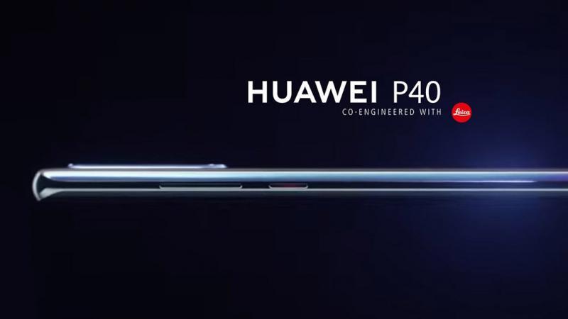 Hình ảnh render của Huawei P40: Màn hình cong, có nút bấm vật lý, camera hơi lồi