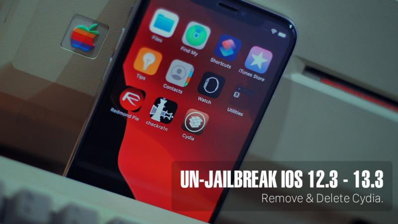 Các thao tác thực hiện xoá jailbreak iOS 12.3 - 13.3