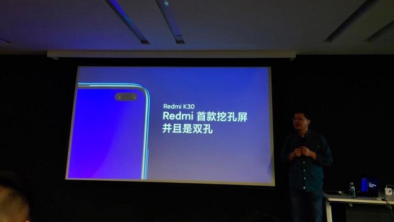 Lộ diện poster chính thức của Redmi K30 5G với 4 camera xếp dọc