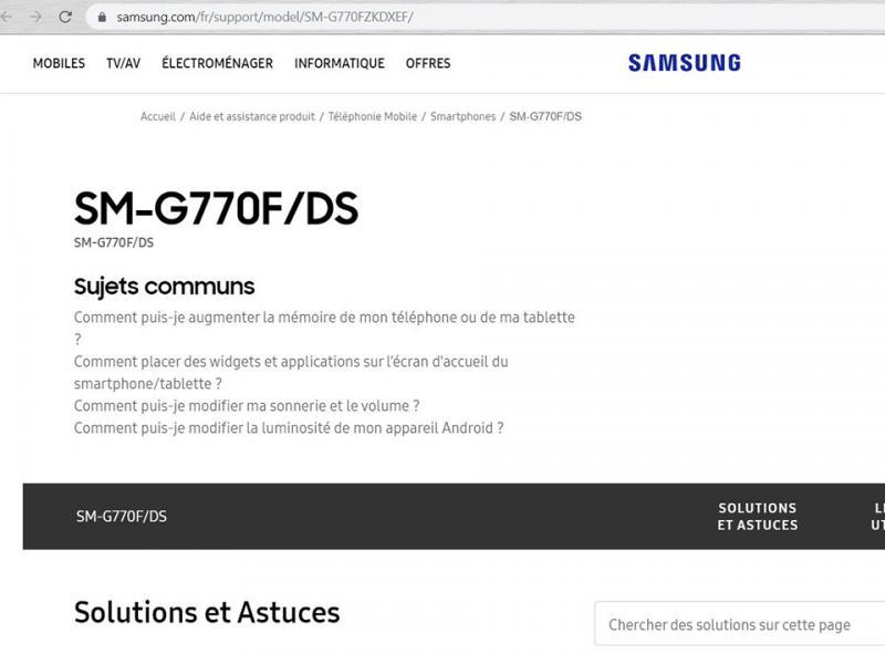 Galaxy S10 Lite đã có mặt trên trang web hỗ trợ của Samsung