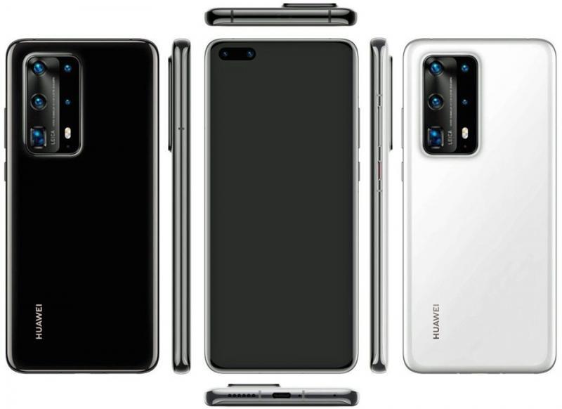 Lộ diện hình ảnh render của Huawei P40 Pro PE với 5 camera sau đẹp mắt