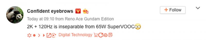 OPPO Find X2 được xác nhận hỗ trợ công nghệ sạc nhanh SuperVOOC 65W