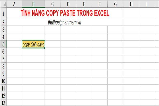 Cách sử dụng tính năng copy paste trong Excel đơn giản mà hiệu quả