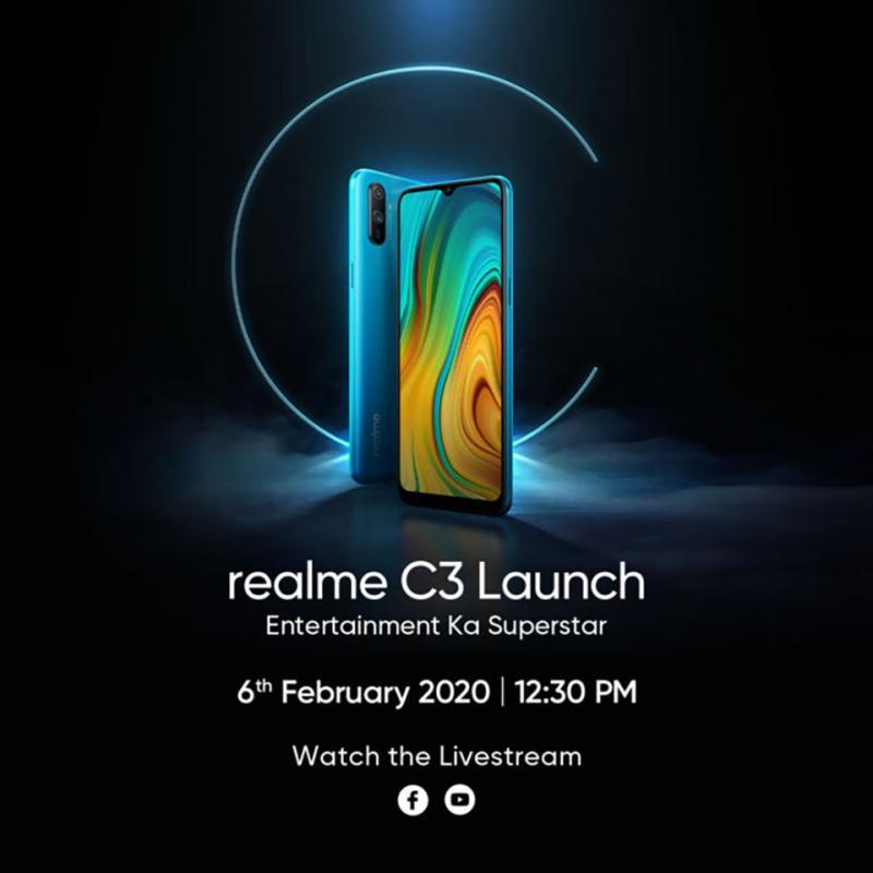 Realme C3 sẽ ra mắt ngày 6/2 với camera kép, chạy Realme UI