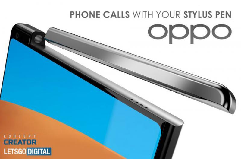 Phát hiện bằng sáng chế smartphone của OPPO được trang bị bút stylus