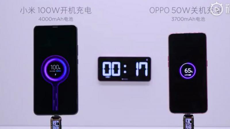 Công nghệ sạc nhanh 100W của Xiaomi có thể sạc đầy viên pin 4,000 mAh chỉ trong 17 phút