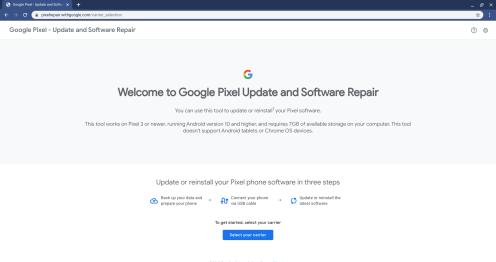 Hướng dẫn cài đặt cập nhật OTA cho Android bằng công cụ Repair của Pixel