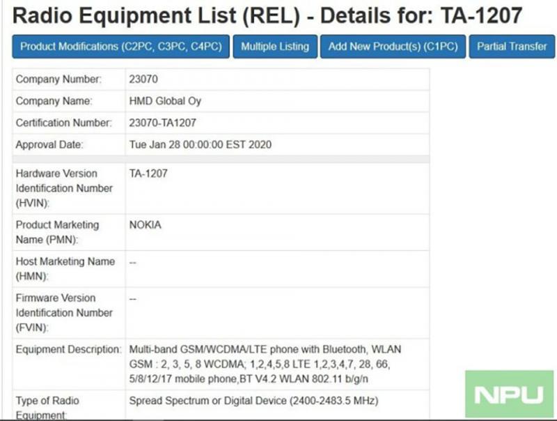 Nokia 4.3(TA-1207)vừa đạt một chứng nhận quan trọng, sắp sửa trình làng?