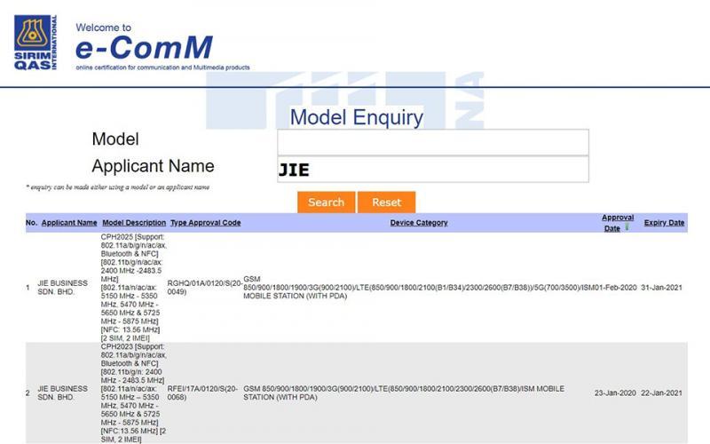 OPPO Find X2 và Find X2 Pro được phê duyệt bởi cơ quan NBTC