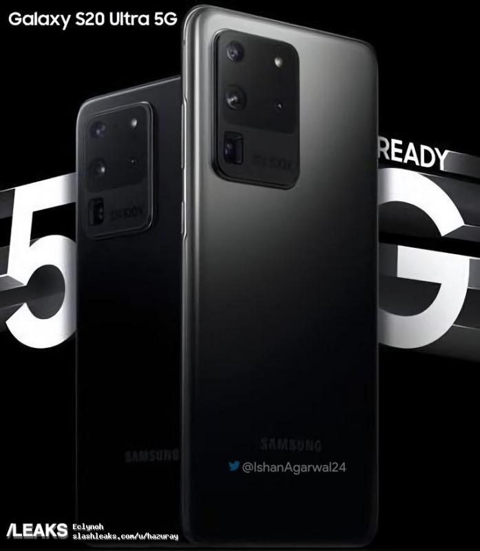 Lộ diện poster chính thức của siêu phẩm Samsung Galaxy S20 Ultra