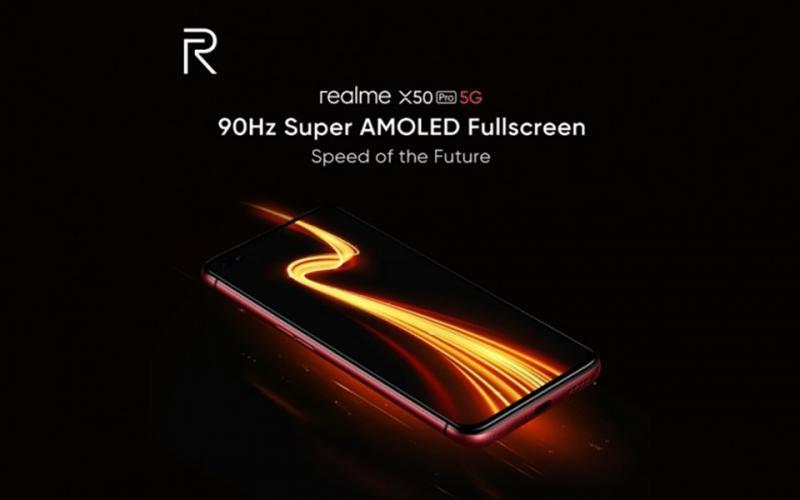 Realme X50 Pro 5G sẽ có màn hình Super AMOLED, hỗ trợ tần số quét 90Hz