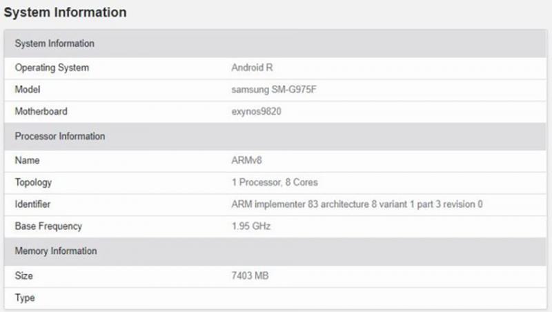 Samsung Galaxy S10+ bất ngờ xuất hiện trên GeekBench với Android 11