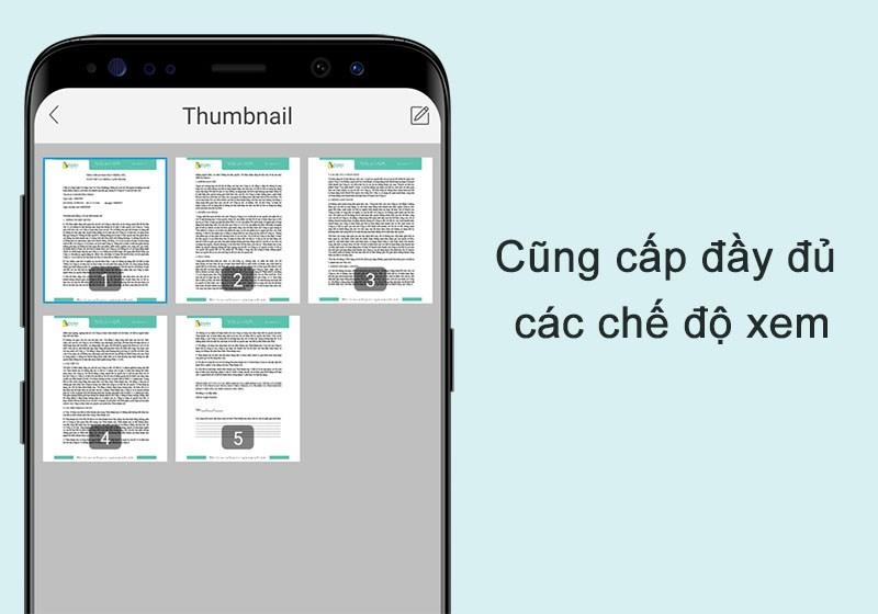 Cung cấp đầy đủ các chế độ xem trên ứng dụng Foxit PDF Reader Mobile