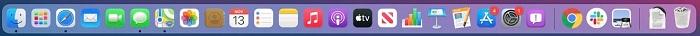 Thanh menu trên hệ điều hành macOS 11 Big Sur