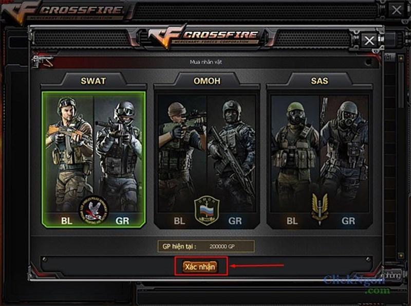 Nhân vật trong game Crossfire