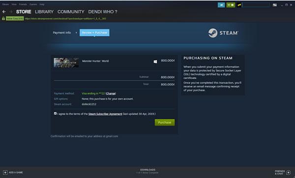Cách mua game trên Steam bằng thẻ Visa hoặc Mastercard (6)