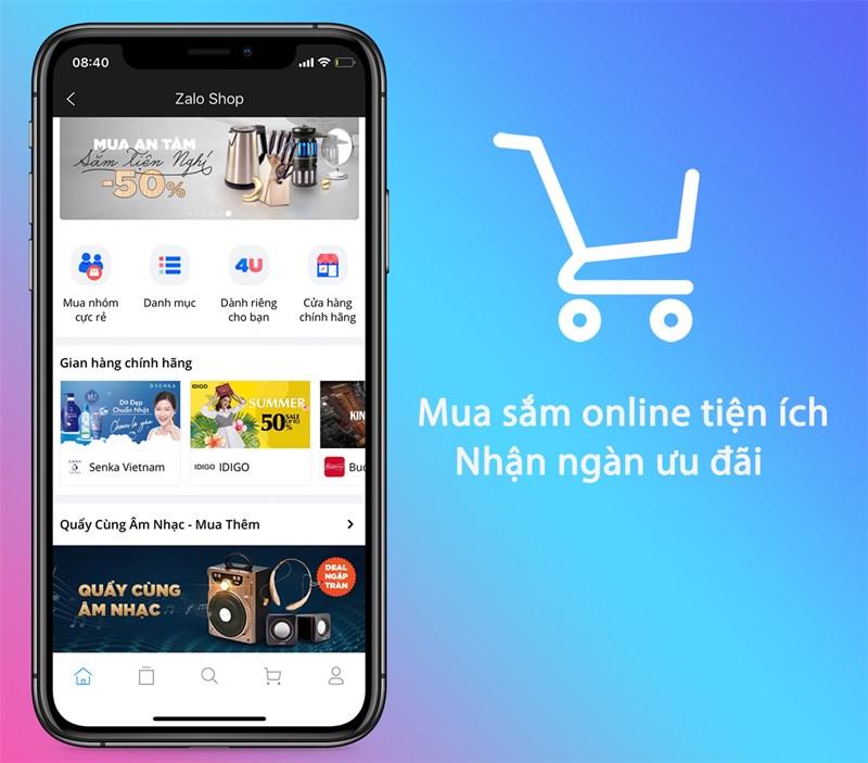 tích hợp mua sắm online trên Zalo