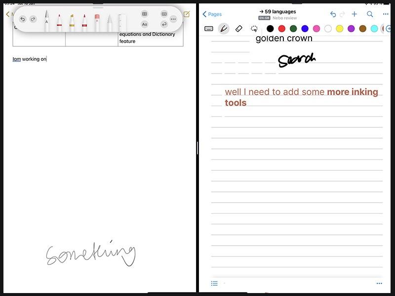 Nebo có rất nhiều công cụ để viết và vẽ