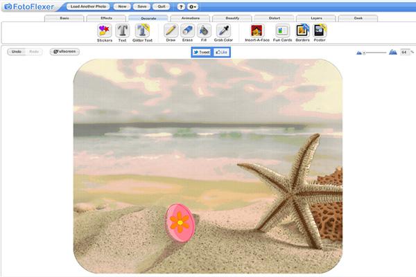 Phần mềm chỉnh sửa ảnh Online FotoFlexer