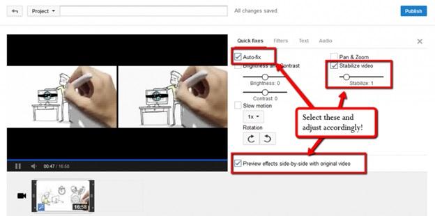 Sử dụng Youtube làm chống rung video