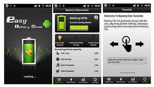 Sử dụng phần mềm Easy Battery Saver