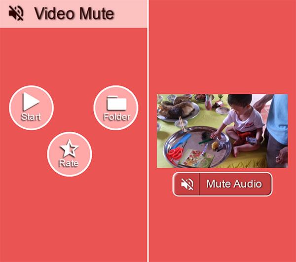 Ứng dụng Video Mute đơn giản và dễ sử dụng