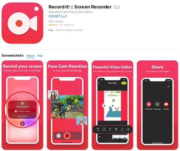 Record it! dễ dàng ghi lại hình ảnh màn hình trên thiết bị của Apple