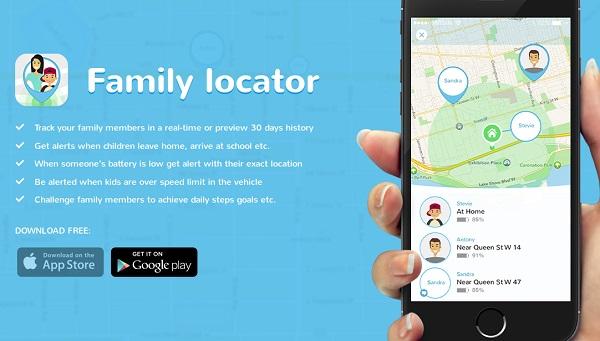 Ứng dụng theo dõi Family Locator dành cho gia đình