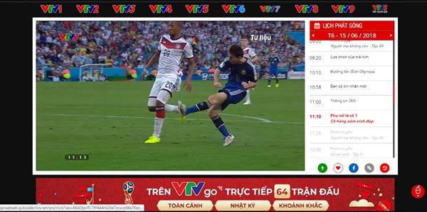 Phần mềm VTV Go