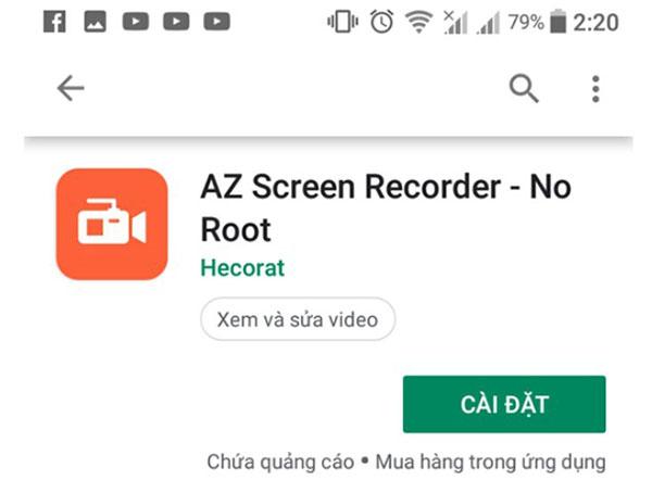 Cách quay video màn hình Samsung bằng ứng dụngAZ Screen Recorder
