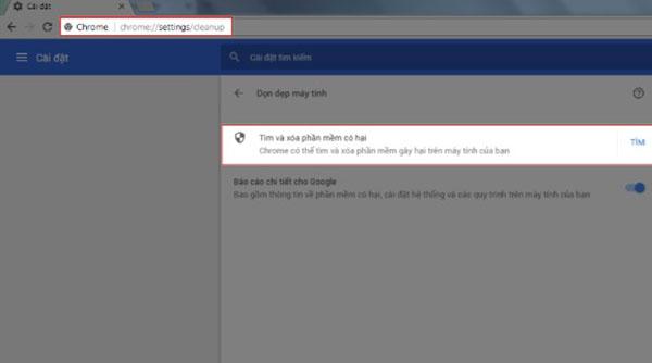 Google Chrome cũng có thể quét virus online trên các file hệ thống