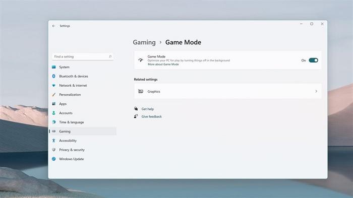 Bật chế độ Game Mode