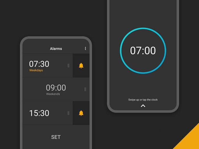 Giao diện ứng dụng Alarm Clock for Heavy Sleepers