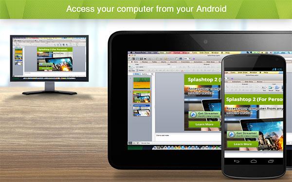 Splashtop Personal điều khiển máy tính từ xa bằng điện thoại Android an toàn