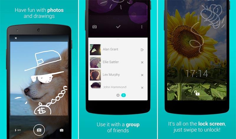 Ứng dụng LokLok cho phép người dùng tự do vẽ hình ngộ nghĩnh ngay trên màn hình khóa