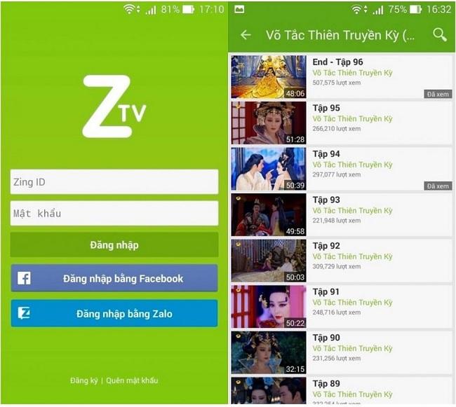 Zing TV rất đỗi quen thuộc với fan Showbiz Việt