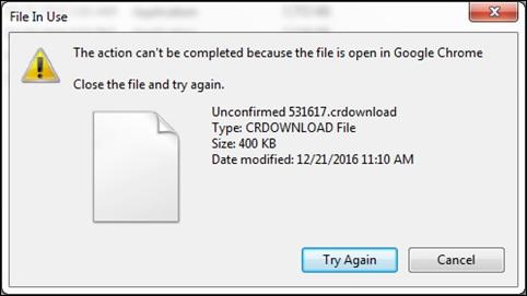 Không mở được file crdownload