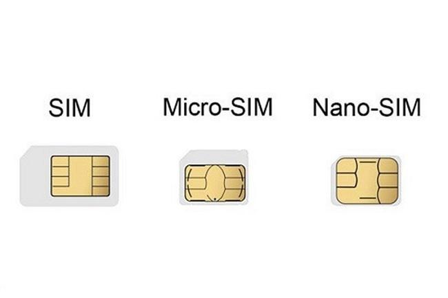Sự khác biệt giữa Micro SIM và Nano SIM chỉ nằm ở kích cỡ bao quanh thẻ SIM