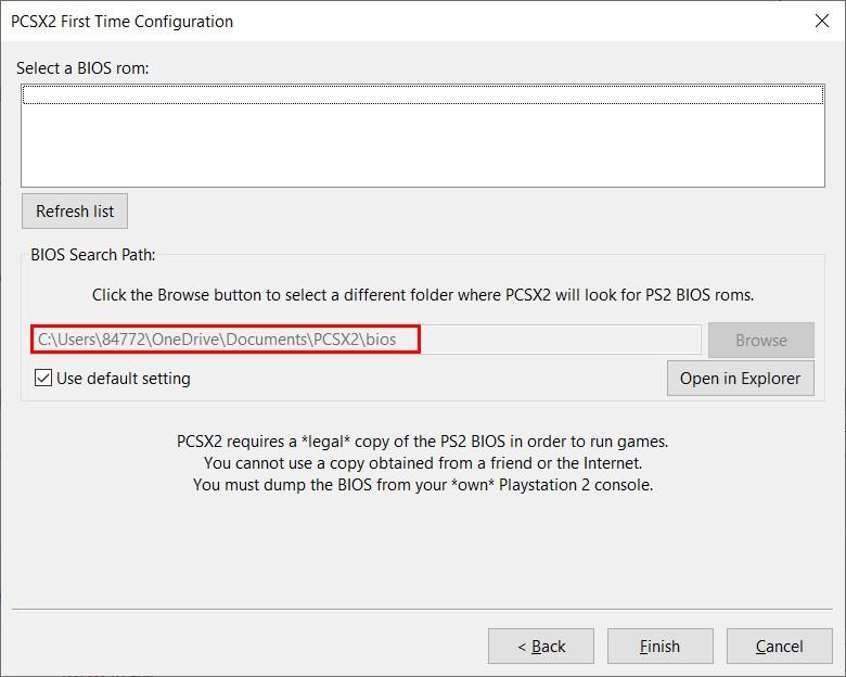 Copy file scph1000.bin dán vào địa chỉ PCSX2